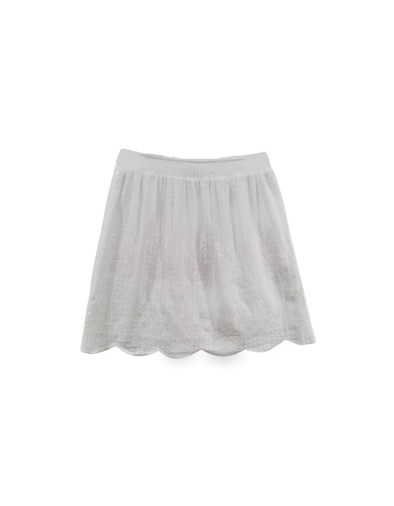 SCHOOL RAG - Jupe blanche, broderie anglaise