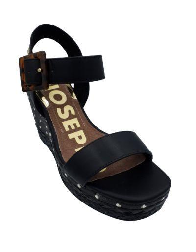 GIOSEPPO - Sandales noir compensées