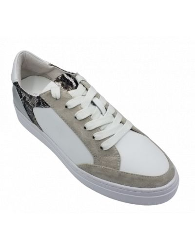 ONE STEP - Sneakers blanches en cuir