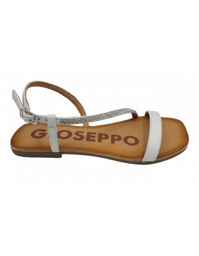 GIOSEPPO - Sandales blanches à strass