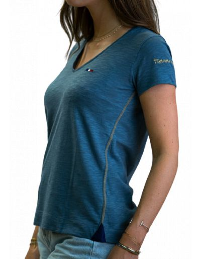 LA MARINIERE FRANCAISE - Tee-shirt bleu jean
