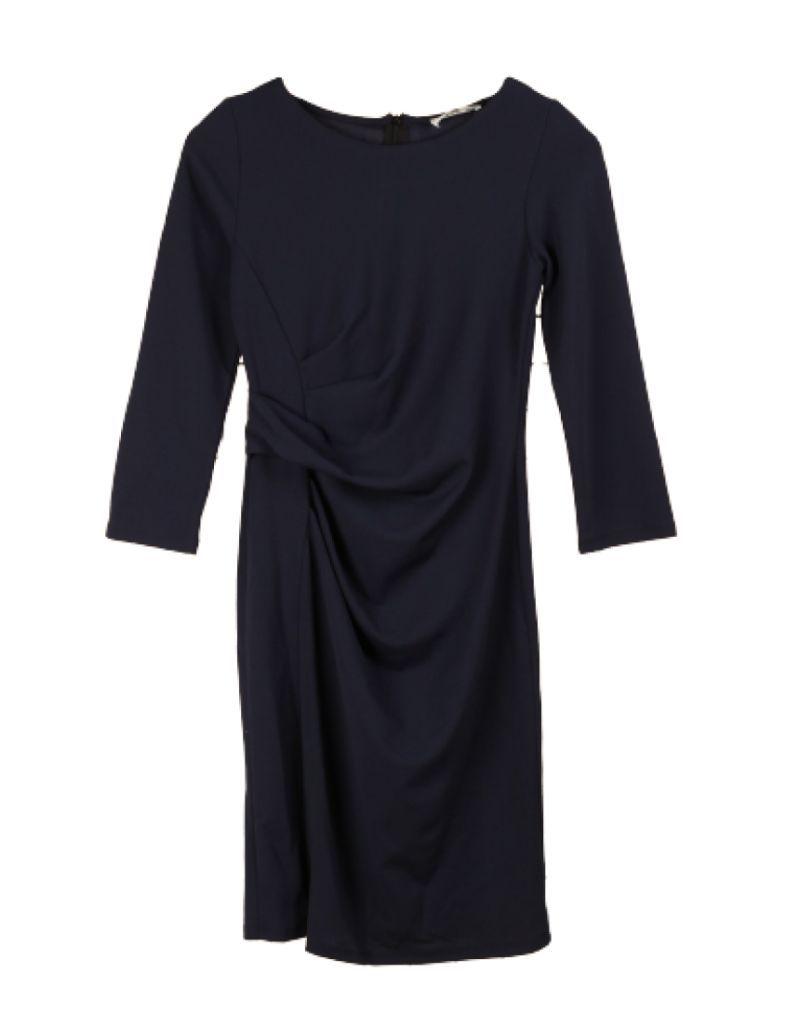 REVD'ELLE - Robe midi bleu marine