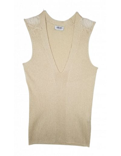 LIU.JO - Top en lurex beige...