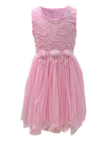 Robe de cérémonie enfant, rose clair