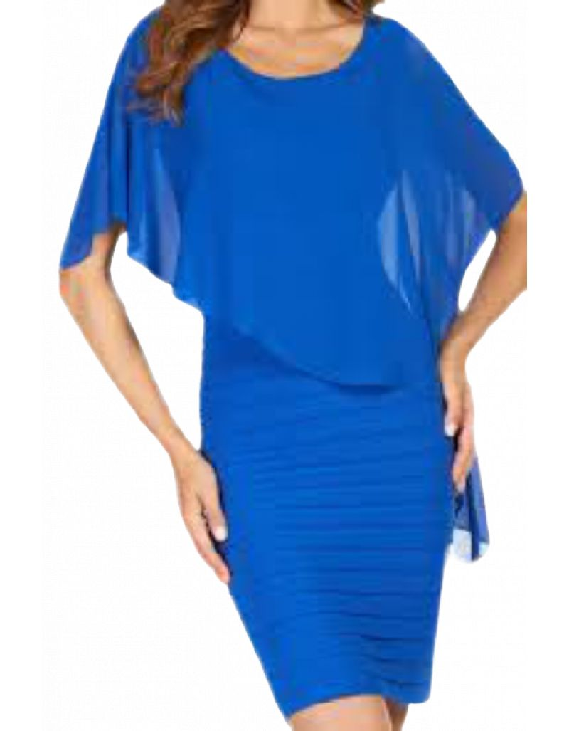 FRANK LYMAN - Robe courte bleue royal