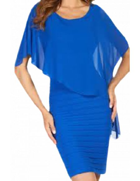 FRANK LYMAN - Robe courte bleue royal