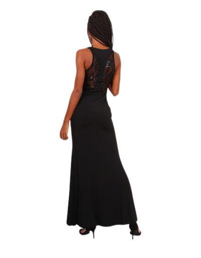 Robe longue de soirée, noire