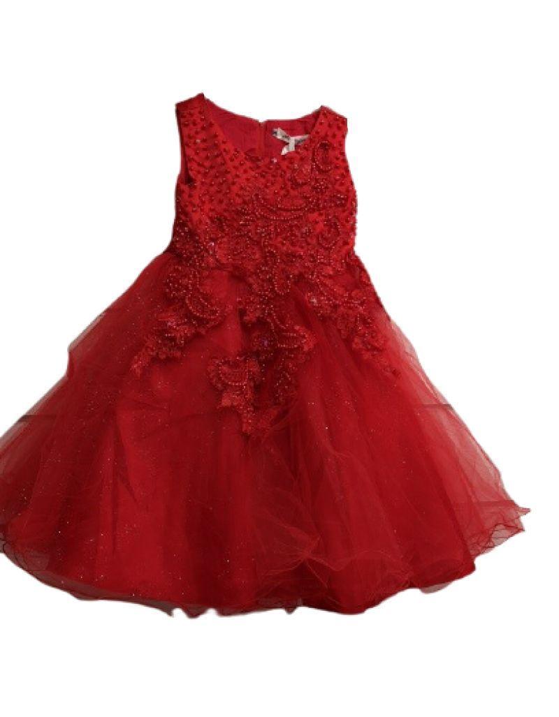 Robe de cérémonie rouge, enfant