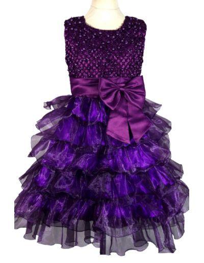 Robe de cérémonie violette,...