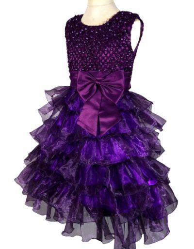 Robe de cérémonie violette, enfant