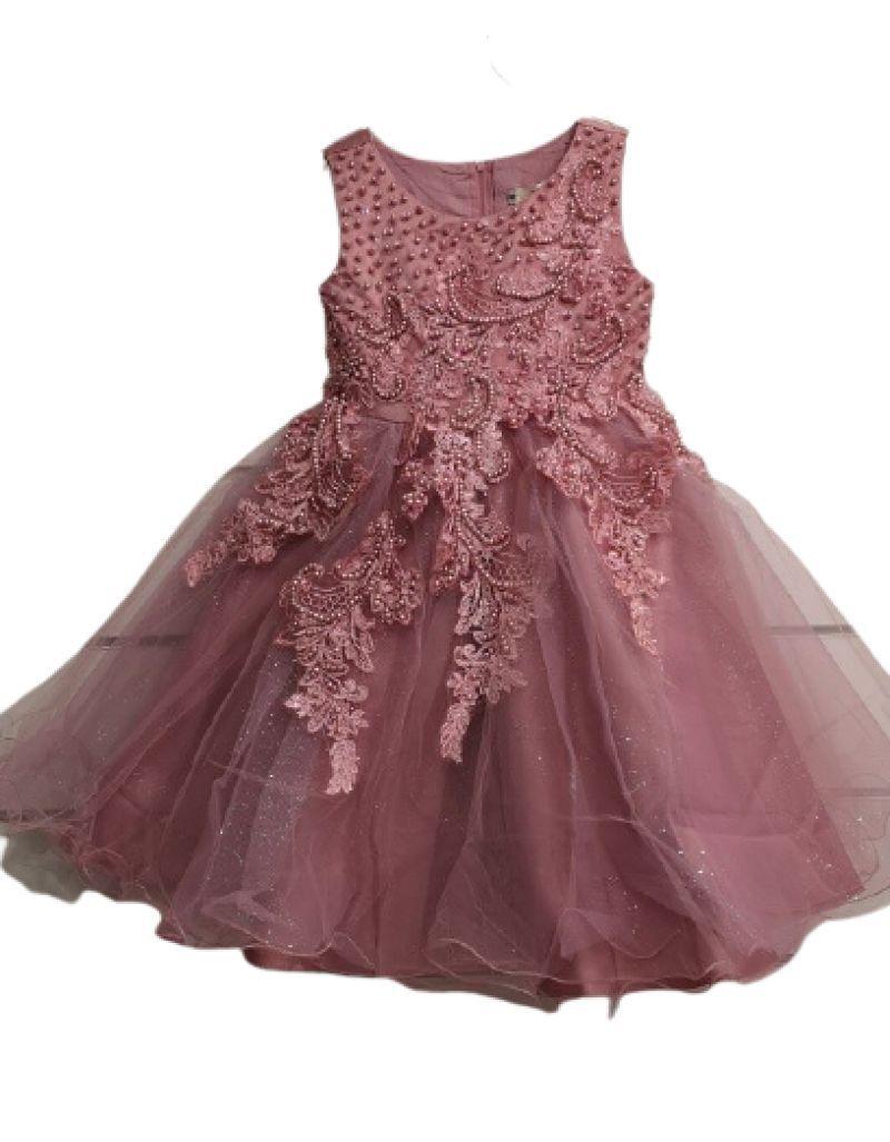 Robe de cérémonie vieux rose, enfant