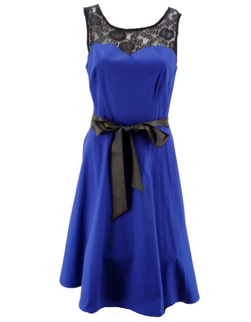 Robe de cocktail courte, Bleue