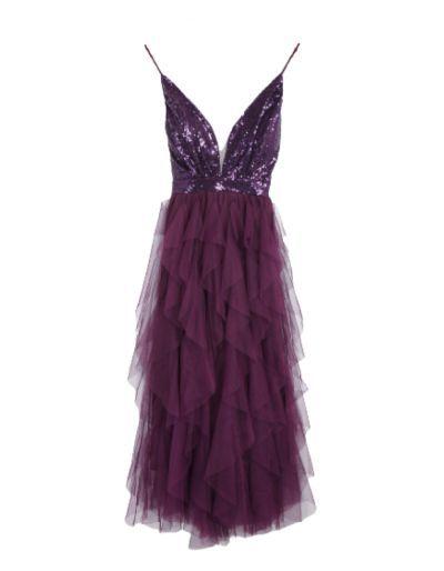 Robe à volants violet