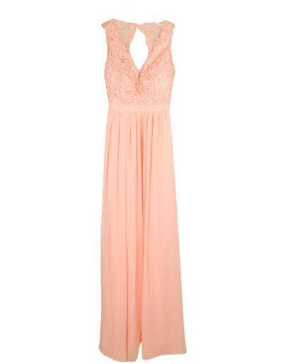 Robe longue de cocktail, rose