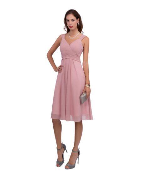 Robe courte de cocktail, rose