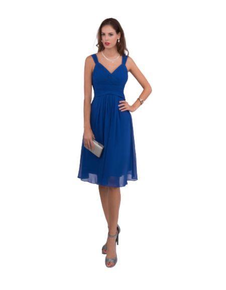 Robe courte de cocktail, bleu royal