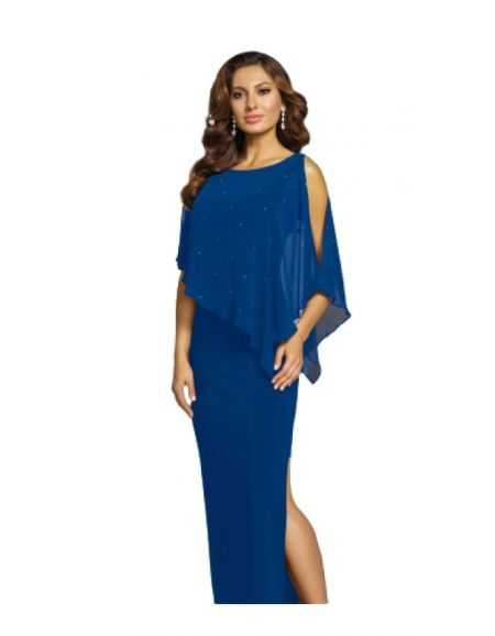 FRANK LYMAN - Robe longue de cocktail, bleu roi