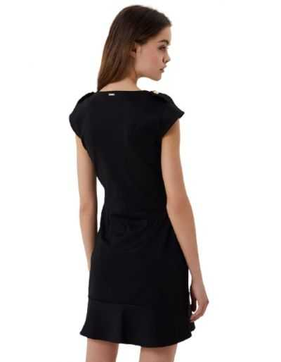 LIU.JO - Robe courte noire avec boutons décoratifs