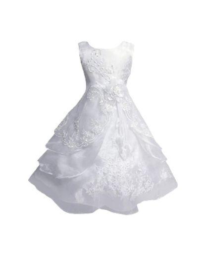 Robe de cérémonie enfants, blanche
