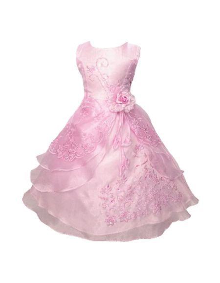 Robe de cérémonie enfants, rose