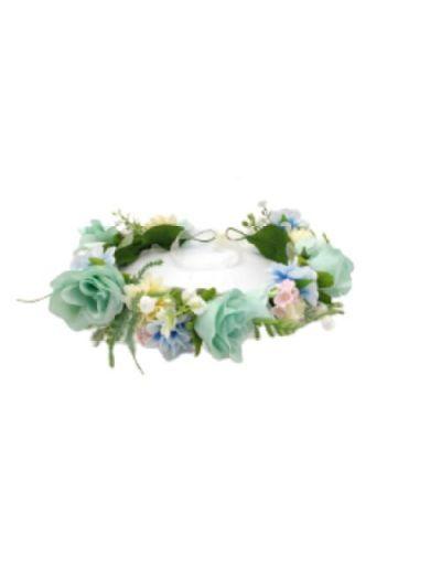 Couronne de fleurs réglable, pour enfants, pour cheveux