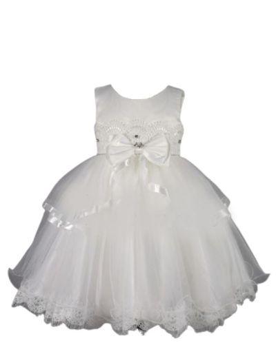 Robe de cérémonie enfants, blanche avec dentelle