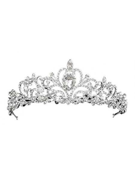 Diadème couronne cristal en strass