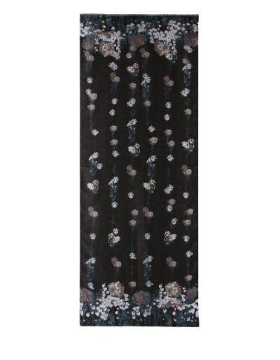 LIU.JO - Etole noire avec imprimé à fleurs
