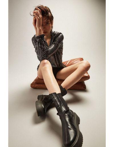 SCHOOL RAG - Short noir Sh-Becky