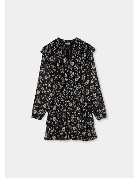 LIU.JO - Robe courte noire à imprimé