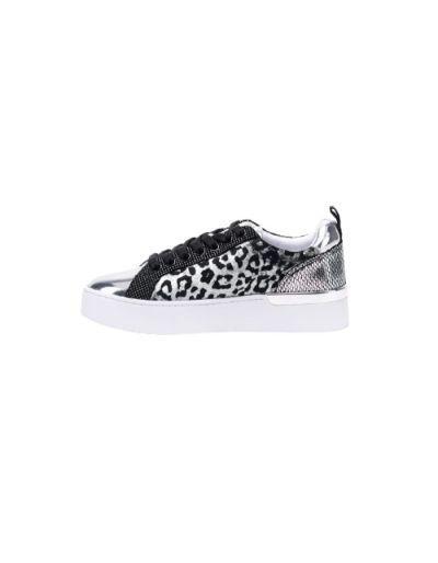 LIU.JO SPORT - Sneackers argentées avec motifs animaliers