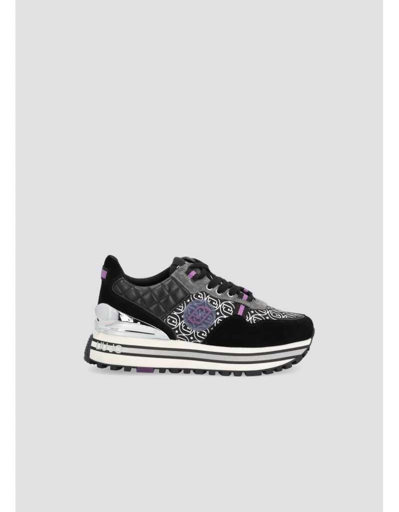 LIU.JO - Sneakers en daim et nylon imprimé