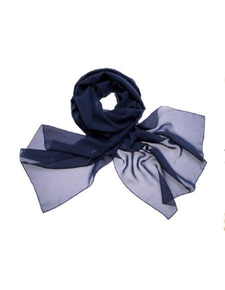 Etole en mousseline, bleue marine