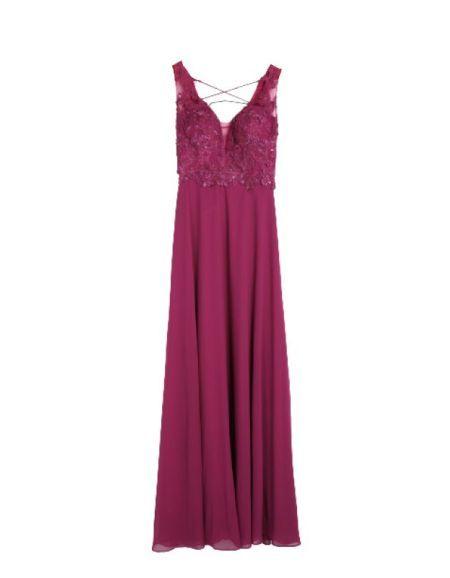 Robe longue de cocktail, violet