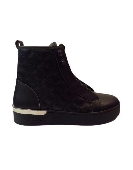 LIU.JO - Sneakers montantes en cuir noires