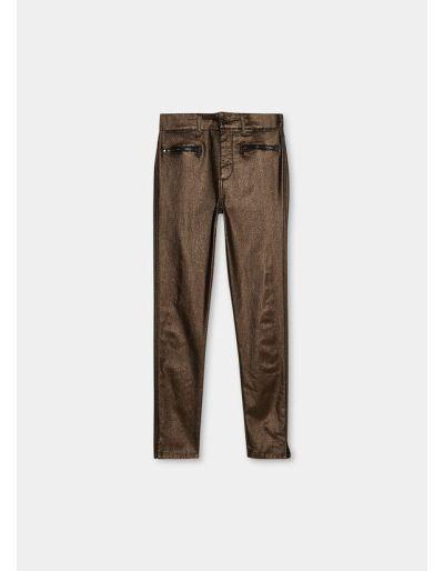 LIU.JO - Pantalon skinny avec zip, bronze