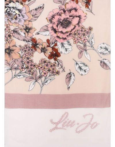 LIU.JO - Etole beige avec imprimé de fleurs