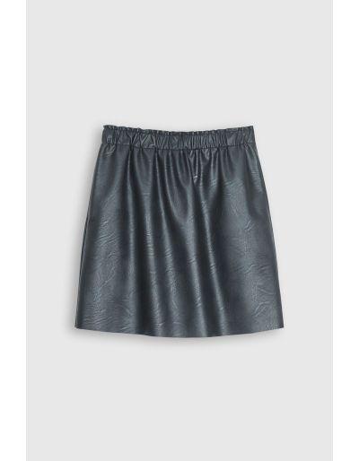 SCHOOL RAG - Jupe courte en faux cuir, noire