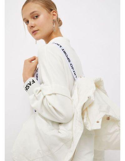 LIU.JO SPORT - Doudoune courte blanche, avec capuche