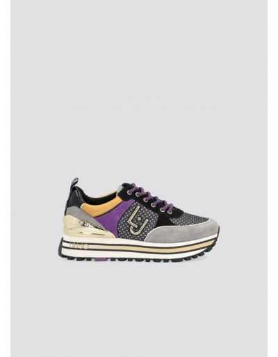 LIU.JO - Sneakers en daim glittéré et maille filet