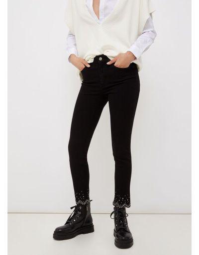 LIU.JO - Jean skinny noir orné de pierres