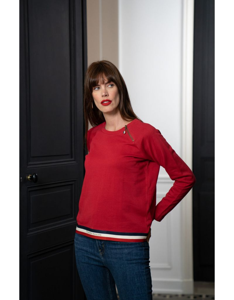 LA MARINIERE FRANCAISE - Sweat ample rouge, Elodie