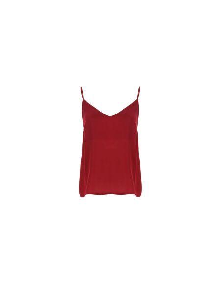 IMPERIAL - Top rouge à bretelles