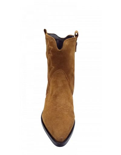ONE STEP - Boots biscuit en cuir velours